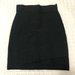 Cross Front BCBG Skirt in Black XS